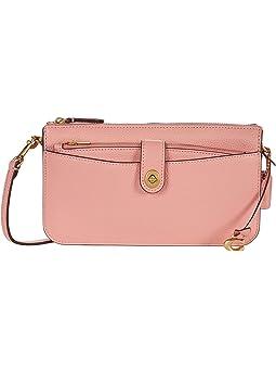 코치 크로스바디백 COACH Pebbled Leather Noa,Candy Pink