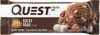 Quest Nutrition Protein Bar, Rocky Road (Pack of 12)