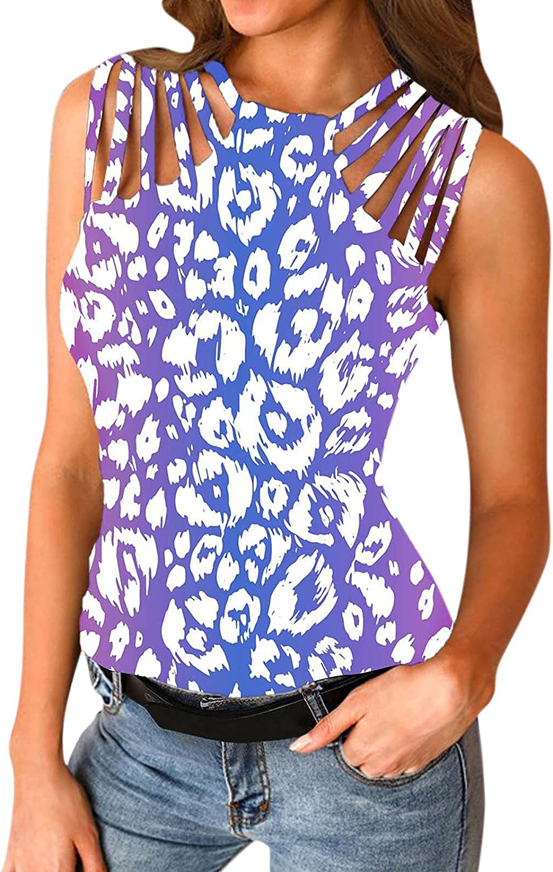 USYFAKGH 丨vest for Women casual丨Women's Sleeveless Non-Positioning Printing Irregular Collar Casual Vest