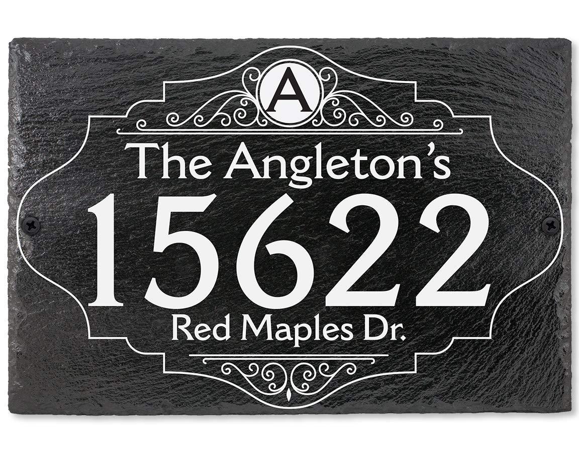 Slate Address Plaque - 12