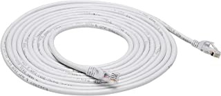 AmazonBasics Snagless RJ45 Cat-6 Ethernet Patch Internet Cable - 15-Foot, White, 5-Pack