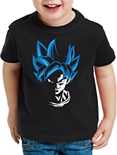 Super Goku Blue God Modo Camiseta para Niños T-Shirt