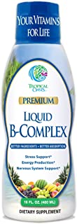 Premium Liquid B Complex Vitamin- Fast Absorbing Liquid B-Complex Supplement w/ all 8 B-vitamins, PLUS energizing herbal b...