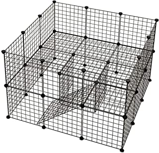 36 Panels Pet Rabbit Bunny Playpen Small Animal Cage Indoor Portable Yard Fence Guinea Pigs, Puppy Kennel Crate Fence Tent