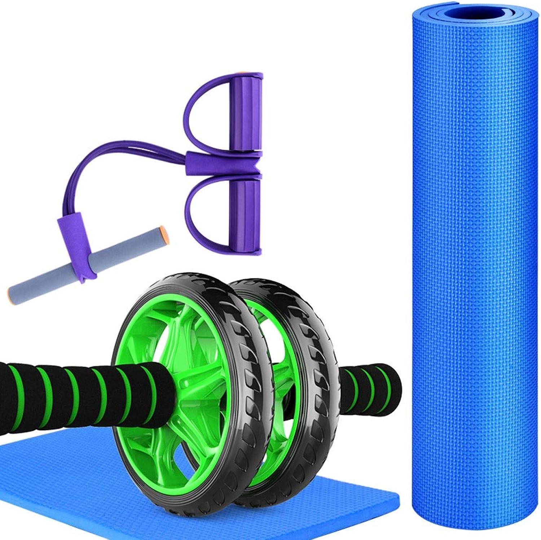 HUIFANG Fitness Multifunktions-Trainingsset Bauchmuskelrad Yogamatte Push-up Bracket Bracket Anfnger Mnner Und Frauen Indoor Fitnessgerte (Farbe   B)