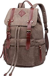 Vintage Canvas Backpack Rucksack Unisex for School Travel Hiking