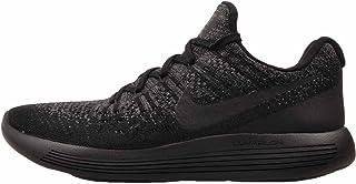 Nike Mens Lunarepic Low Flyknit 2 Low Top Lace, Black/Black-Dark Grey, Size 10.0 US