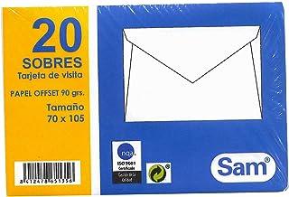 SAM 665135 - Pack de 20 sobres para tarjetas visita, 70 x 105 mm