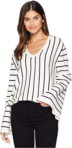 V-Neck Stripe Sweater