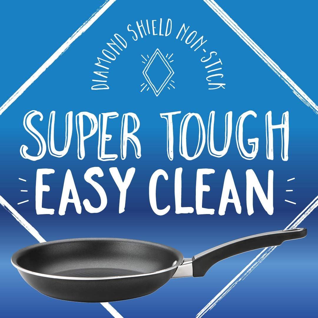 Prestige Oven Safe Diamond Shield Non Stick 3pc Saucepan set With Lids 14//16//18cm Super Tough Easy Clean