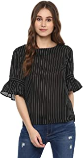 Harpa Women's Striped Regular Fit Top