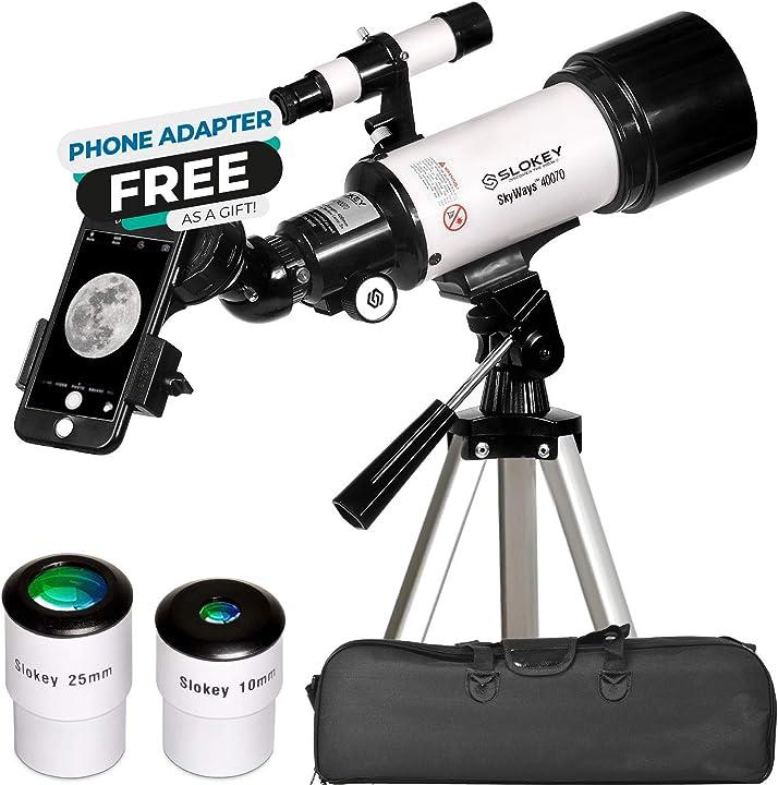 Telescopio astronomico portatile e potente 16x-120x con adattatore mobile pro in omaggio per fare foto TEL40070