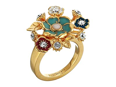 SOLE / SOCIETY Bouquet Ring (12K Soft Polish Gold/Ivory/Crystal/Multicolor) Ring