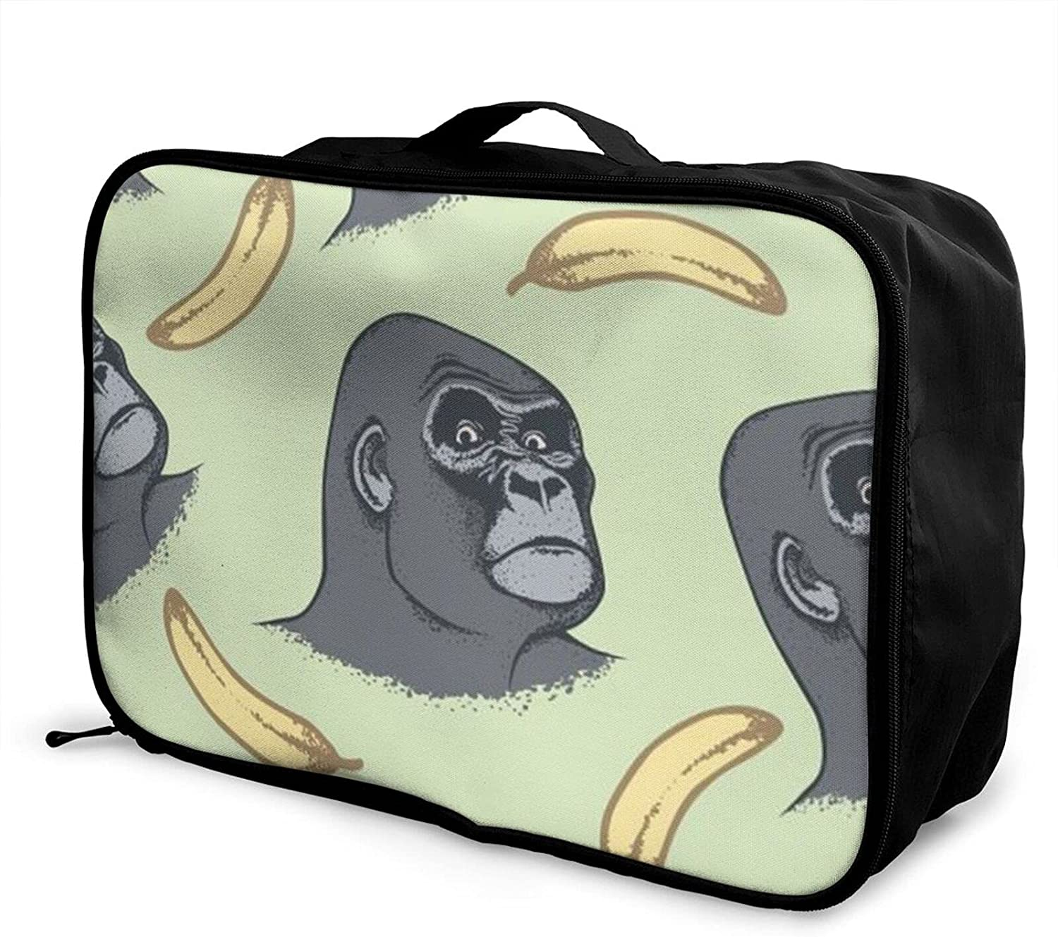 Foldable Discount is also underway Genuine Free Shipping Travel Bag Tote Chimpanzee Gorilla Carry-On Banana