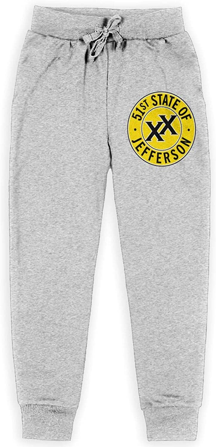 PLICQG Challenge the lowest price of Special Campaign Japan 51st State Jefferson Sweatpants Basic Juvenile Jogger