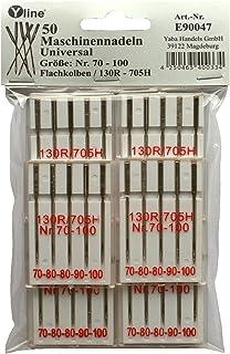 10 Nähmaschine Nadeln Nähnadeln Universalnadeln Flachkolben 70-80-90-100-110