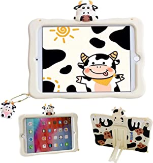 SGVAHY Unique Soft Silicone iPad Case for iPad Air3(10.5 inch) 3D Cartoon Cows Design iPad Case with Self Stand Shockproof...