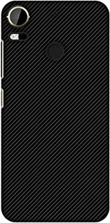 AMZER Slim Fit Handcrafted Designer Printed Hard Shell Case Back Cover for HTC Desire 10 Pro - Carbon Black with Texture