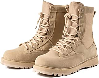 SHOULIEER Taille 35-45 Bottes Noires de Combat Bottes Militaires Vertes Militaires Botte Beige Tactique Militaire