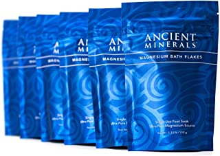 Sponsored Ad - Ancient Minerals Magnesium Bath Flakes Single use Magnesium Chloride Pouches 0.33lb Bag, Pack of 6