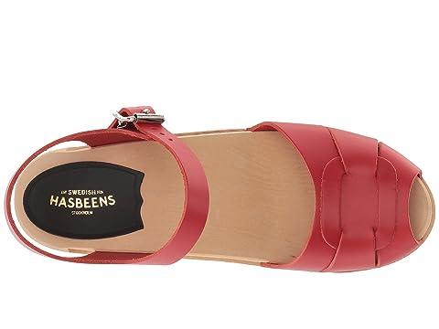 suecos peep Hasbeens bajo rojo toe xw1XwZYq
