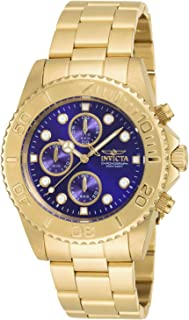 Invicta Men's 1774 Pro-Diver Collection Reloj de acero inoxidable chapado en oro de 18 quilates