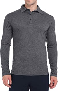 Men's Golf Polo Long Sleeve Shirts Outdoor Casual Athletic Workout T Shirt