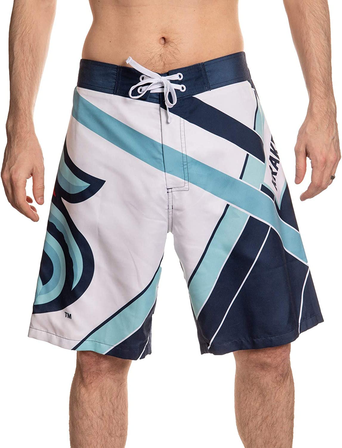 Calhoun Men's Officially 2021 autumn and winter new Licensed Latest item Diagonal NHL Boardshorts Lines