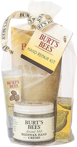 Burt's Bees Gift Set, 3 Hand Repair Moisturizing Products - Almond & Milk Cream, Lemon Butter Cuticle Cream, Shea But...