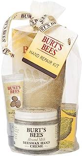 Burt's Bees Hand Repair Gift Set, 3 Hand Creams plus Gloves Almond Milk Hand Cream, Lemon Butter Cuticle Cream, Shea Butte...
