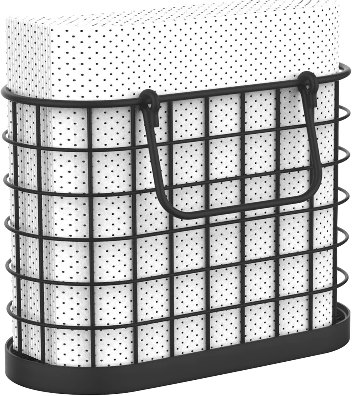HOMECLASS6 Black Napkin Holder - Holders Max 62% OFF Kitc Vintage trend rank for
