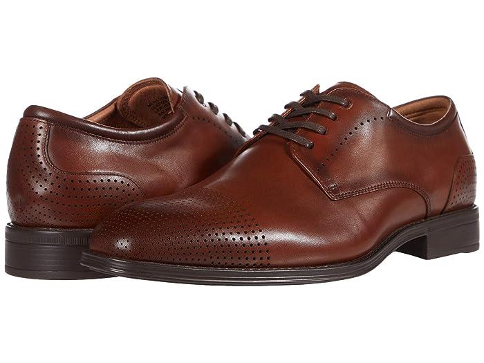 1930s Men's Fashion Guide- What Did Men Wear? Florsheim Amelio Perf Cap Toe Oxford Mens Shoes $70.65 AT vintagedancer.com