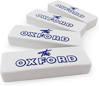 Helix Oxford Vintage Jumbo Erasers - White - PVC Free - Pack of 4