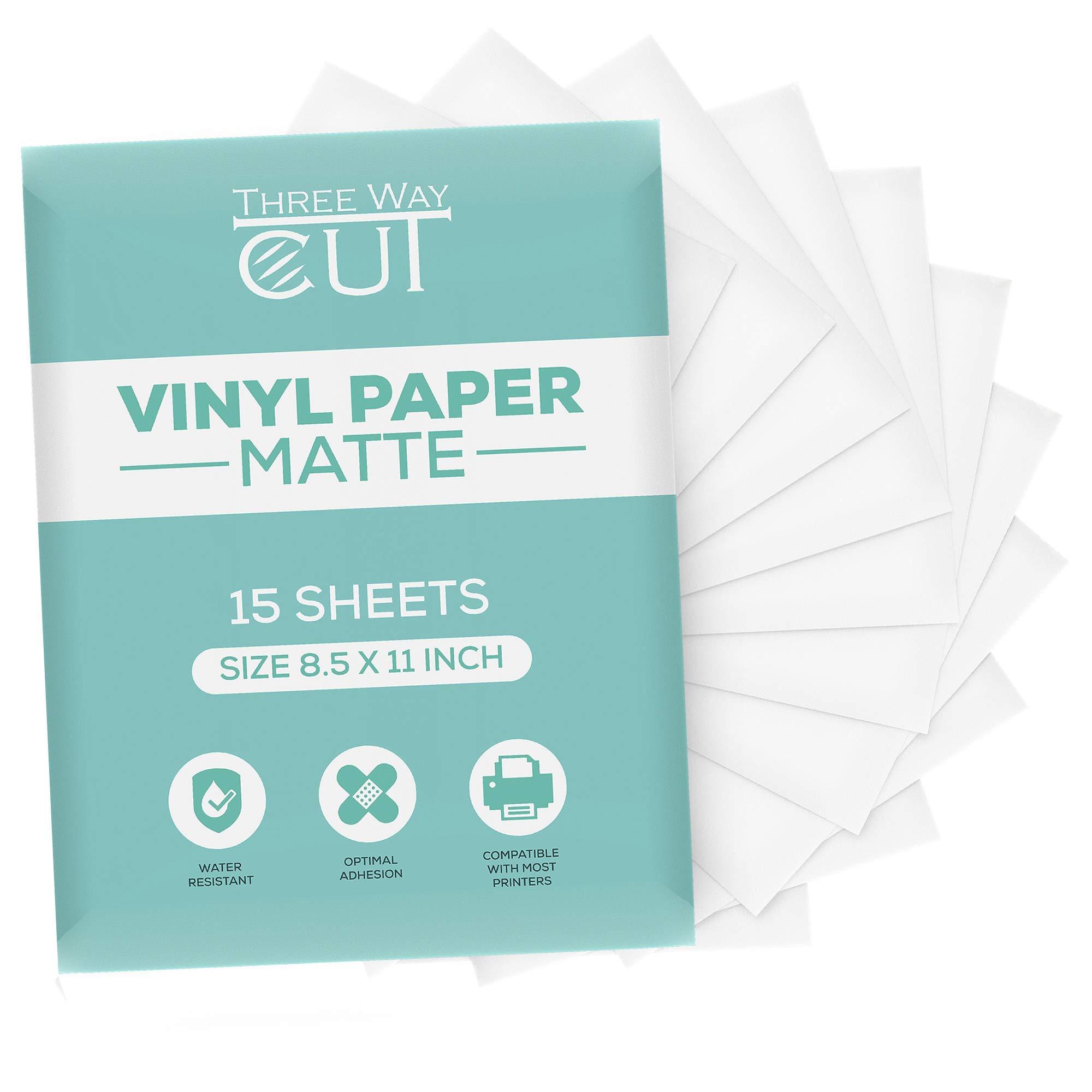 15 Clear Sheets Premium Printable Vinyl Sticker Paper for Your Inkjet Printer