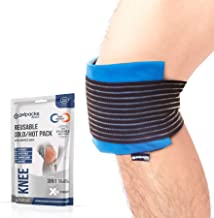 GelpacksDirect Knee Ice Pack Wrap - Reusable Hot Cold Compress Gel for Knee Pain