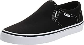 Vans Asher Skate Shoes Slip-On Black/White