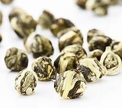 Yimi Jasmine Dragon Pearls Green Tea Organic Dried Jasmine Flower Loose Leaf Green Tea Chinese Herbal Tea,7.8 Oz, Christma...