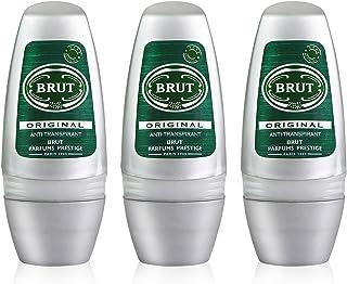 3x Brut Original para hombre Roll On Desodorante antitranspirante 50ml por Faberge