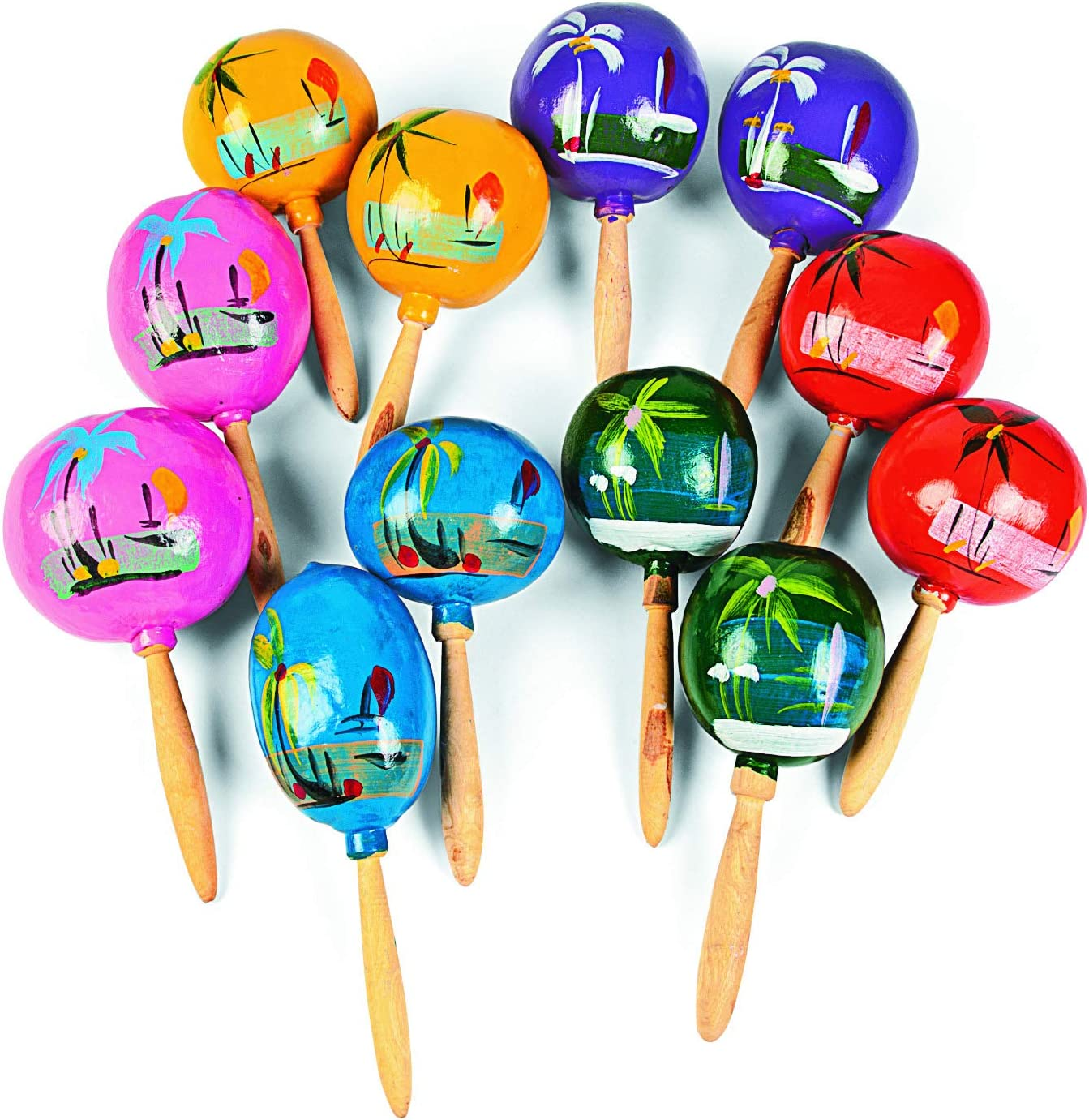 Maracas for Kids and Adults - Painted Mara Hand Authentic Surprise price Selling rankings Wooden