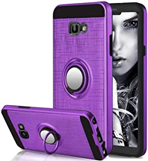 Galaxy J6 Plus Case Armor Suordii Hybrid Rugged Heavy Duty Hard Back Cover Case with 360 Degree Rotating Ring Kickstand for Samsung Galaxy J6 Plus/J6 Prime 2018 (Purple)
