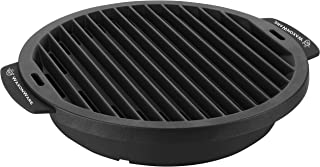 WaxonWare Nonstick Grill Pan For Stove Top - Smokeless BBQ Griddle Grilling Pan For Steak, Fish, Chicken & Vegetables 12 I...
