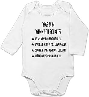 Shirtracer Strampler Motive - Schreianleitung, was tun wenn ich Schreie - Baby Body Langarm
