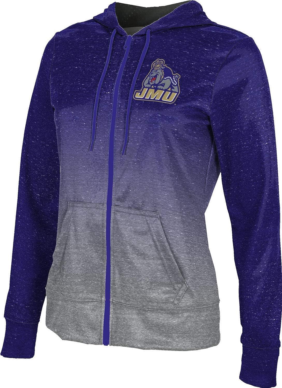 James Madison University Foundation Girls' Zipper Hoodie, School Spirit Sweatshirt (Ombre)