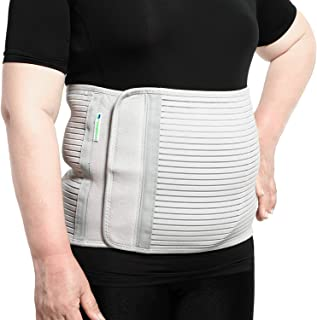 JOMECA Plus Size Bariatric Abdominal Binder, Hernia Support Compression Belt, Stomach Wrap Help for Bariatric, Postpartum and Post-Surgery Tummy, Close-Fitting Breathable Obese Girdle Fit Men & Women