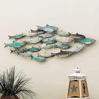 Bella Coastal Decor Distressed School of Fish Wall Art