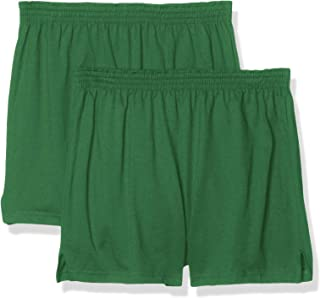 Soffe Juniors' Authentic Cheer Short, Kelly Green, X-Large (2-Pack)