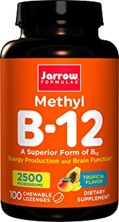 Jarrow Formulas - Methyl B-12, Tropical Flavor, 2500 mcg, 100 Lozenges