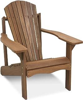 Furinno Hardwood Furniture Tioman Adirondack Patio Stuhl in Teaköl, Holz, Natur, 89.92 x 76.45 x 89.41 cm