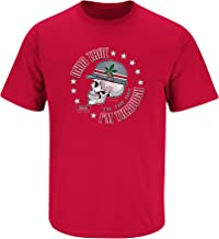 Smack Apparel Ohio State Football Fans. Ohio True 'Til I'm Dead and Through. Red T-Shirt (Sm-5X)