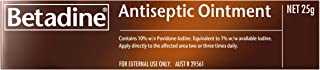 Betadine Antiseptic Ointment - Treatment of skin infections, minor cuts and abrasions - Helps prevent infection, 25g